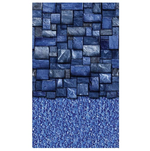 Blue Slate Stream 48 52 54 Round and Oval Overlap Liner 25 Gauge