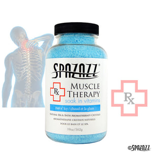 SPAZAZZ Rx MUSCLE THERAPY (HOT N' ICY) CRYSTALS 19OZ
