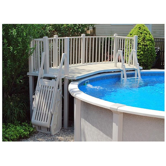 Vinyl Works 5' x 13.5' Resin Fan Deck for Above Ground Pool