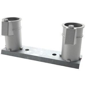"Perma-Cast 4"" Deck Anchor Channel Mount Set – Aluminum PC-4008-A"