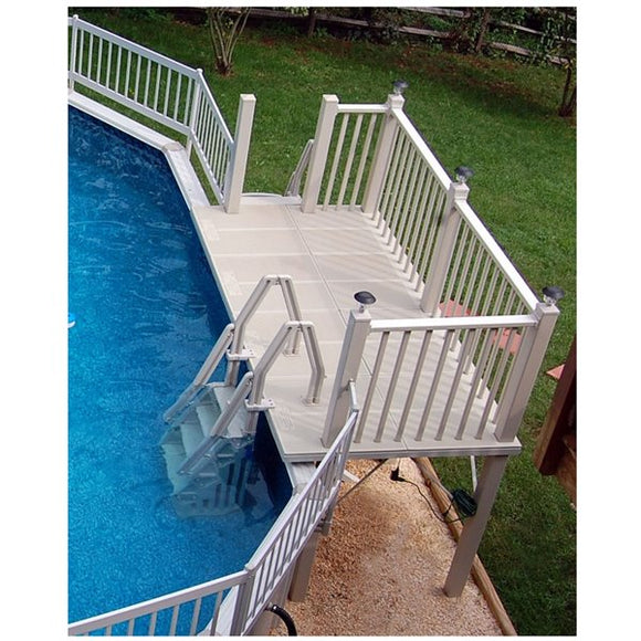 Vinyl Works 5' x 10' Resin Side Deck for Oval Above Ground Pool