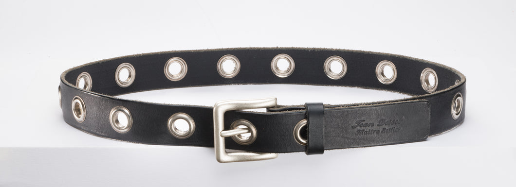 Eyelet Leather Belt.