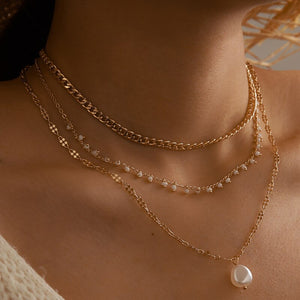 Bohemian Pearl Pendant Necklace
