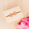 copper stud earrings