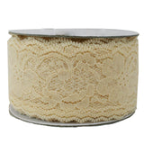 "2"" x 25YD Bella Lace Wedding Décor Scrap Book Ribbon"