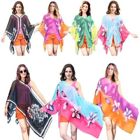 Womens Magic Wrap Floral Sheer Fashion Beach Wear Swim suit Cover Up Lot of 50
