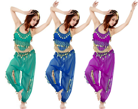 Belly Dancer Genie Costume Set