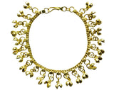 Indian Chain Anklet Silver & Gold with Jingling Bells