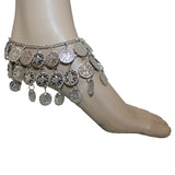 Coin Belly Dance 3 Row Anklet Gold Adjustable
