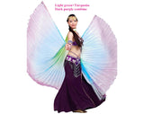 Rainbow Tie Dye Isis Wings Belly Dance Halloween Costumes