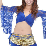 Tribal Belly Dance Lace Butterfly Sleeve Wrap Halter Top