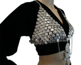 Hip Shakers Sexy Dangling Coin Bra Top Performance Costume