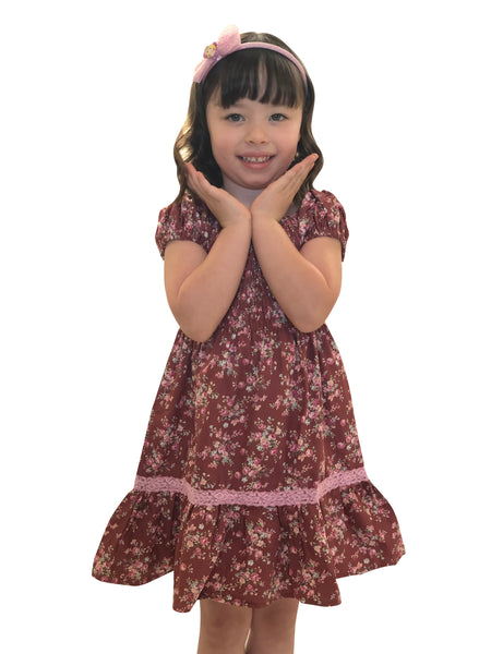 Little Gugu Kids Girls - Brown Dress