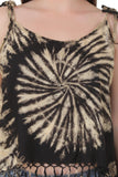 Women's Tie Dye Spaghetti Strap Tank Top with Fringes