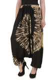 Women's Tie-Dye Harem Hippie Cotton Elastic Waist Baggy Long Yoga Pants