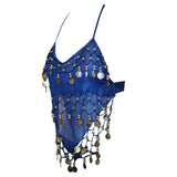 Copy of Kids Professional Belly Dance Genie Costume Set with Silver Coins