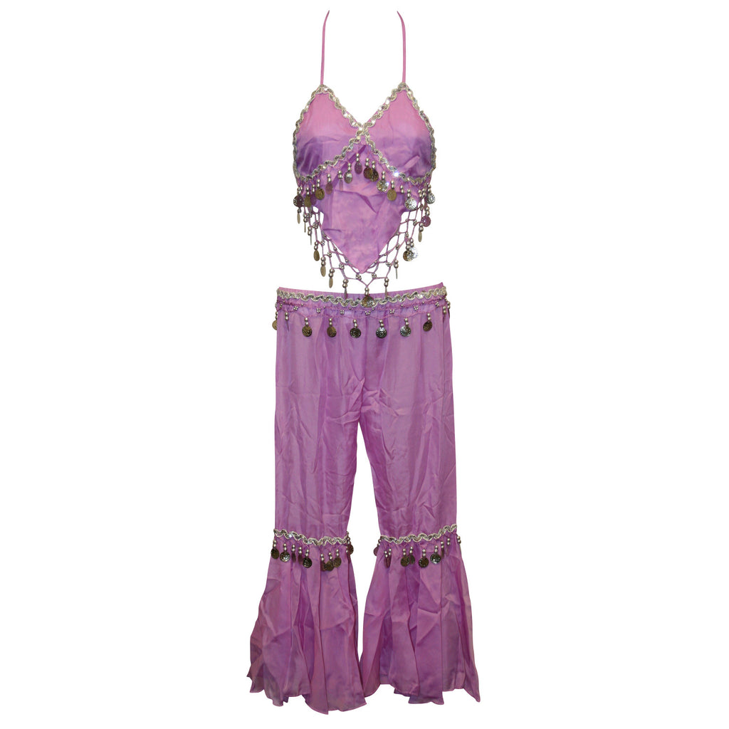 Kids Professional Belly Dance Genie Costume with Silver Sequin and Coins  sc 1 st  Jonu0027s Imports Inc & Kids Professional Belly Dance Genie Costume with Silver Sequin and ...
