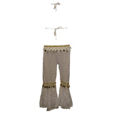 Copy of Kids Professional Belly Dance Genie Costume with Gold Sequin and Coins
