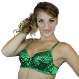 Sequin Cabaret Bra with Beaded Accents