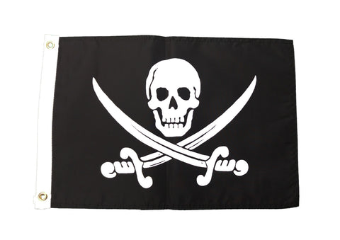 Pirate Jack Rackham Outdoor Garden 12 by 18-Inch Flag