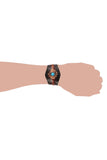 Hipster style Leather Wristband with Turquoise accent and flower design