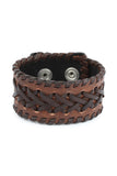 Casual Fashion Leather Wrist Band with Braided design
