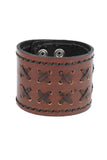 Casual Retro fashion Geniune Leather Brown Wrist band