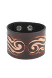 Punk Rock fashion Leather cuffs with dual flame pattern