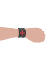 Punk fashion Leather Cuff-Bracelet with Victorian Cross design Design