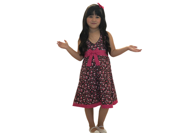 Little Gugu Kids Girls - Pink Floral Dress