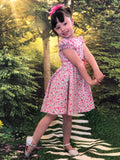 Pink little girl dress