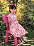 Little Girl Pink Floral Summer Dress