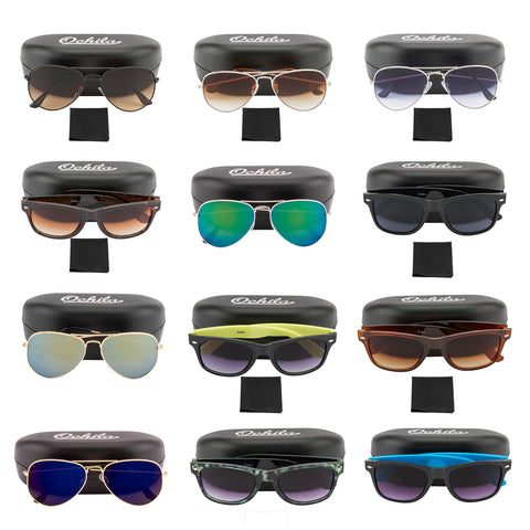 Ochila Sunglasses Unisex Aviator Wayfarer Lot of 20 Assorted Colors / Styles