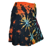 Women's Multi Tie Dye Rayon, Spandex Mini Skirt Strapless Beach Summer Casual Wear