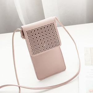 Colosseum Touch Screen Purse With Clear Window | Pink - TouchScreenPurse.online