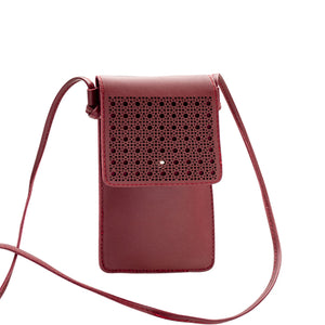Colosseum Touch Screen Purse With Clear Window | Red - TouchScreenPurse.online