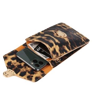 Women Touch Screen Purse With Clear Window Pockets | Leopard - TouchScreenPurse.online