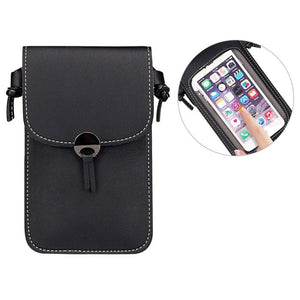 Camille Touch Screen Purse With Clear Window | Black - TouchScreenPurse.online
