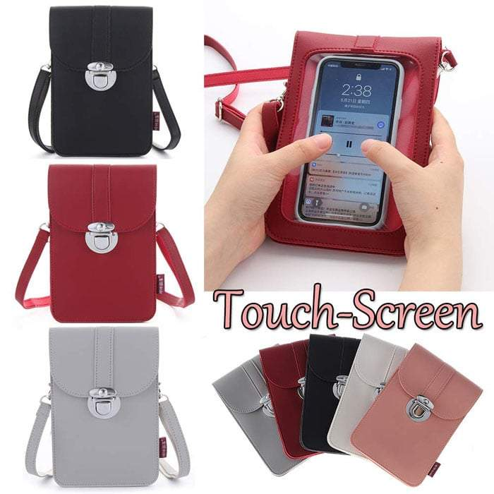 Women Touch Screen Purse With Clear Window Pockets