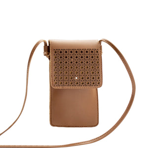 Colosseum Touch Screen Purse With Clear Window | Brown - TouchScreenPurse.online
