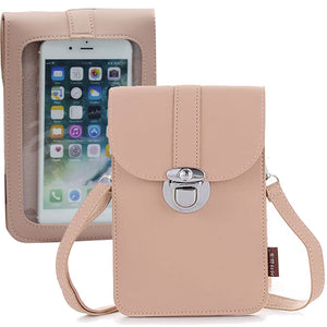 Women Touch Screen Purse With Clear Window Pockets | Pink - TouchScreenPurse.online