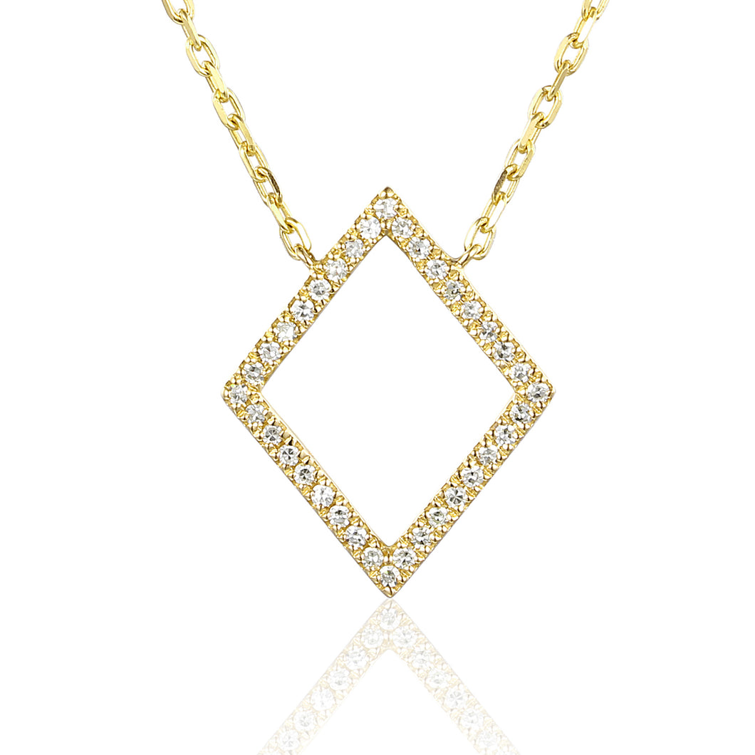 Diamond Open Diamond Necklace 18ct Gold