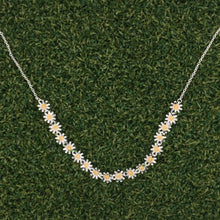 Load image into Gallery viewer, Daisy Silver Necklace