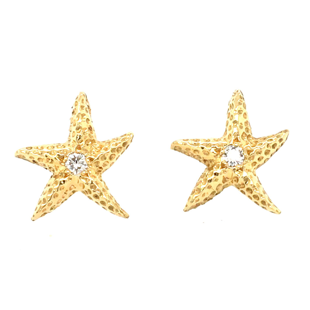 Diamond Starfish Earrings