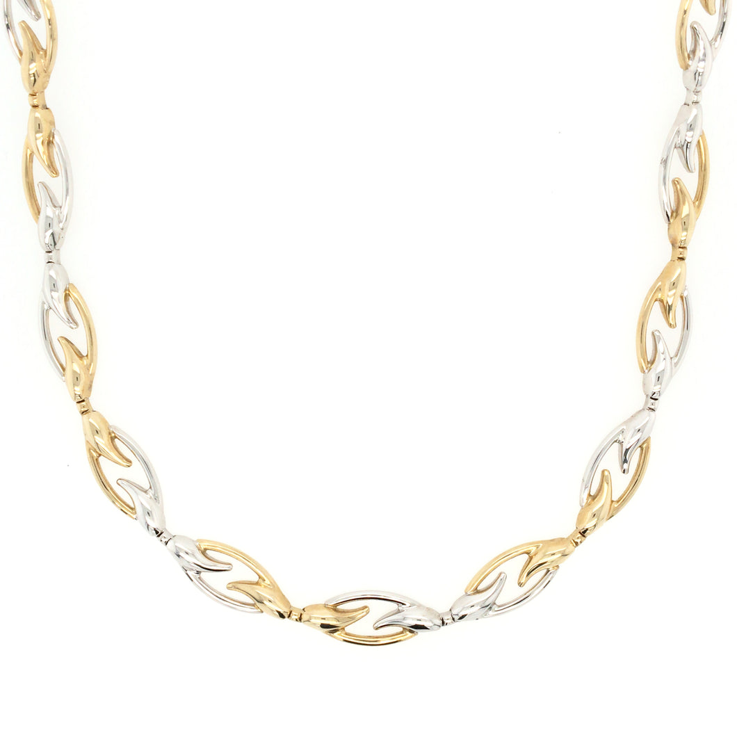 White & Yellow Gold Flow Collar