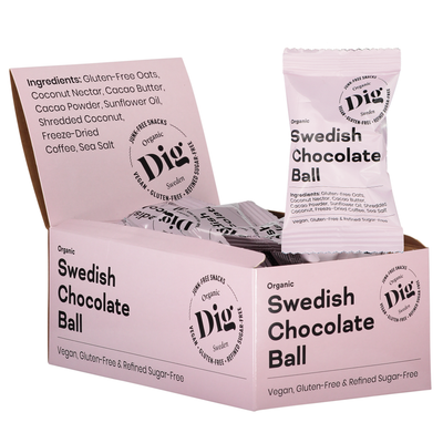 Swedish Chocolate Ball 16 x 25g - Dig/Get Raw