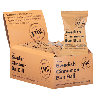 Swedish Cinnamon Bun Ball 16 x 25g - Dig/Get Raw