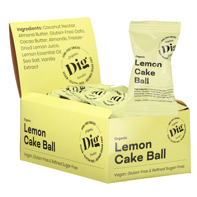 Lemon Cake Ball 16 x 25g - Dig/Get Raw