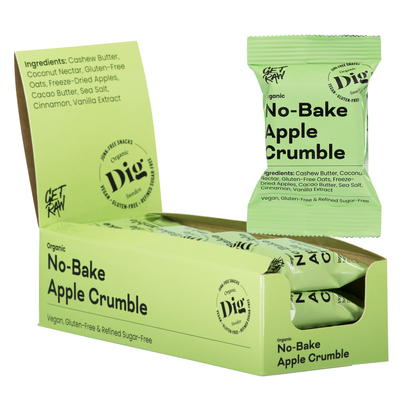 No-Bake Apple Crumble 12 x 35g - Dig/Get Raw