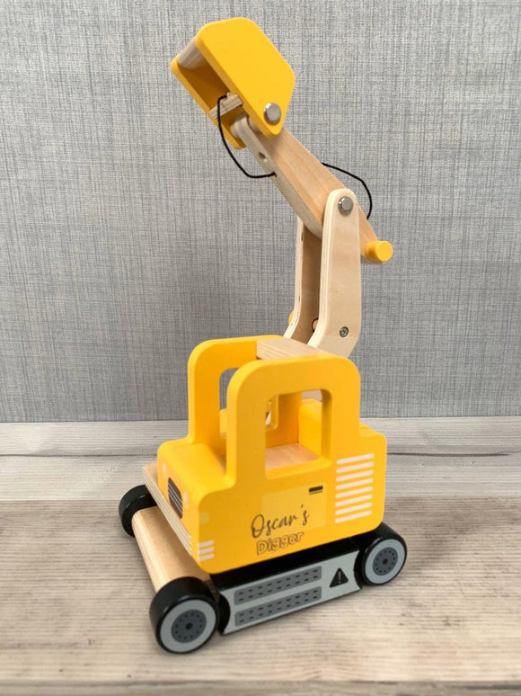 Personalised Wooden Digger